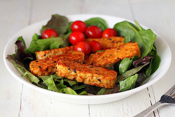 Gingery Maple Glazed Tempeh