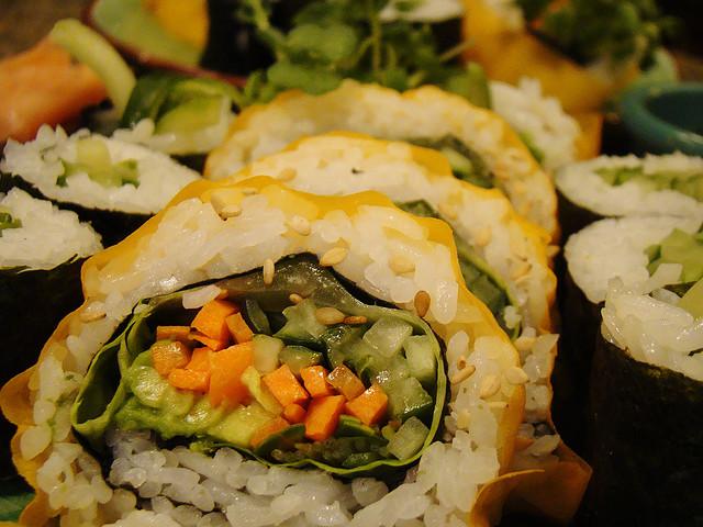 vegan sushi rolls