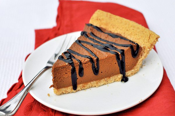 Dark Chocolate-Pumpkin Pie