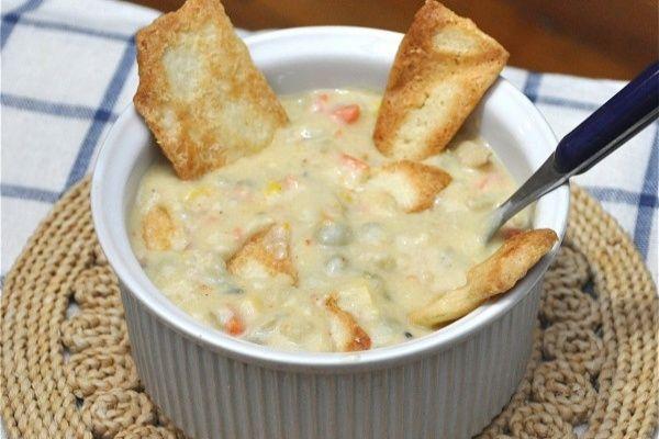 chicken less pot pie soup
