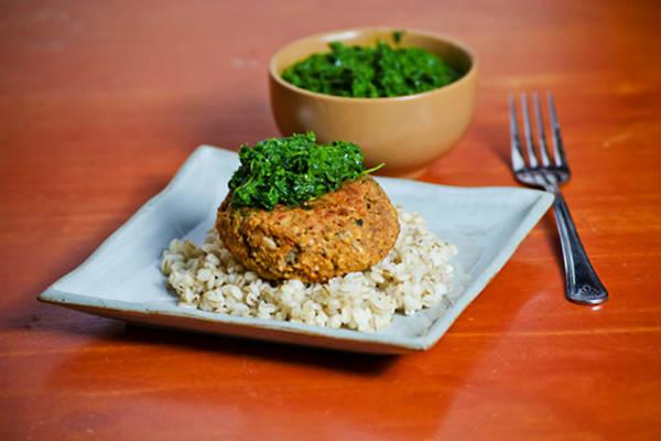 Recipe: Red Lentil Burgers with Kale Pesto