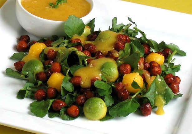 Recipe: Smoky Chickpea and Watercress Salad with Mango and Avocado