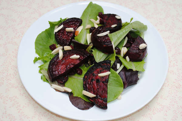 Recipe: Grilled Beet Salad with Almonds and Dried Cranberries
