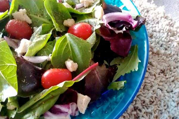 Recipe: Simple Salad Starring Lemony Almond Cheese
