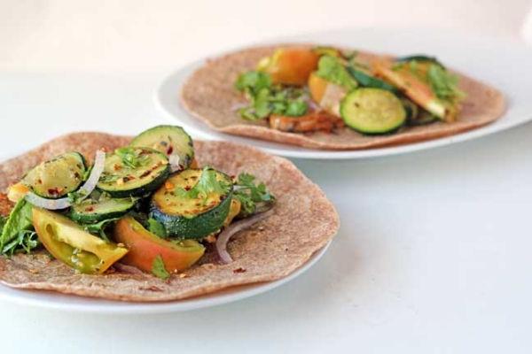 Recipe: Spicy Zucchini and Tomato Tacos