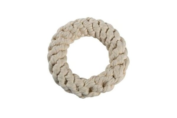 Zanies Cotton Eco-Friendly Rope Rings Dog Toy, Small