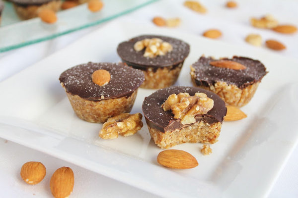 Raw Coconut Peanut Butter Cups with Chocolate