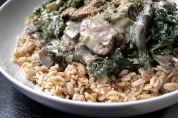 Recipe: Kale and Mushroom Gratin