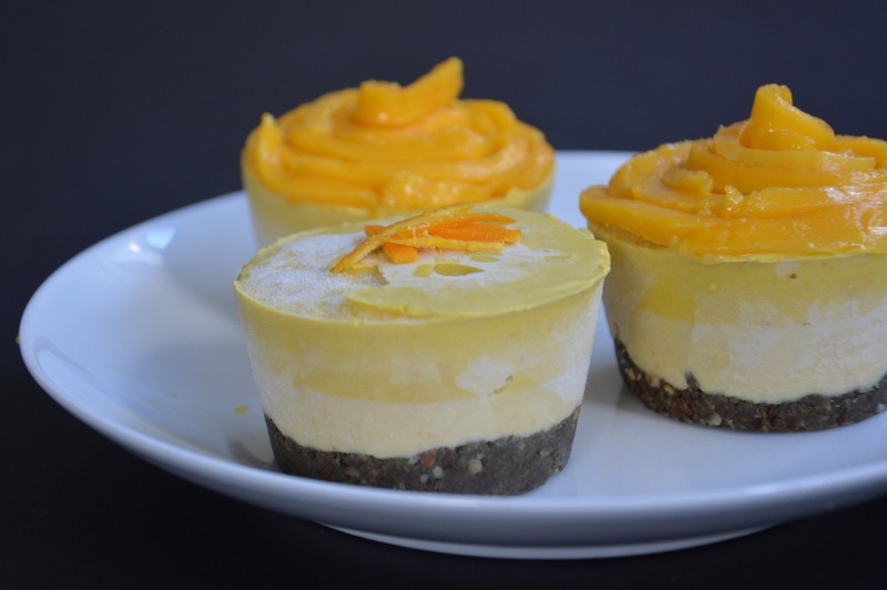 Recipe: Orange Mango Mini Cheesecake