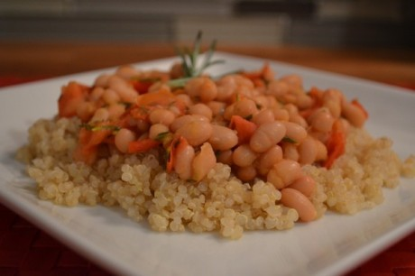 Petitie Navy Beans with Rosemary and Tomato