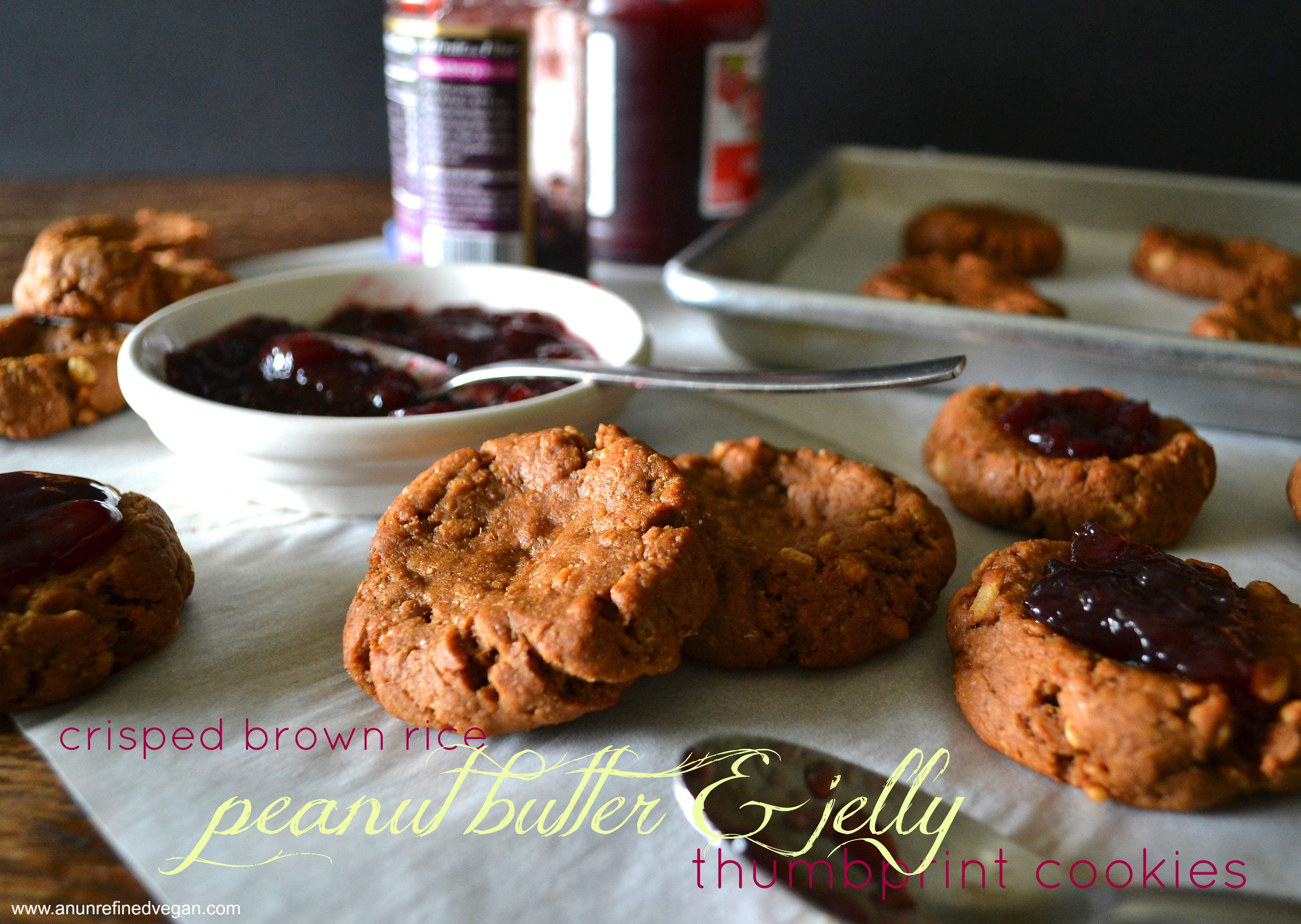 peanut butter jelly thumbprint cookies