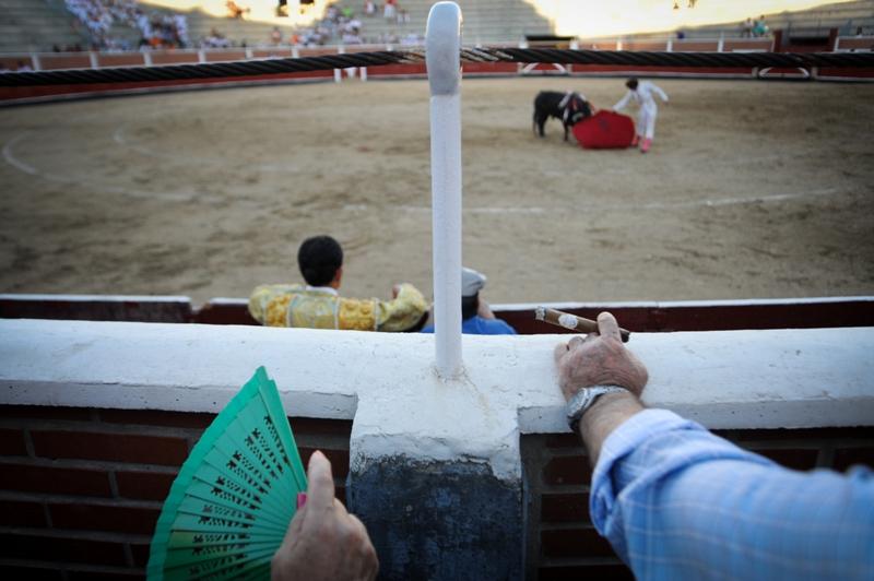 Bullfighting spectators, Sebastián de los Reyes, Spain, 2010
