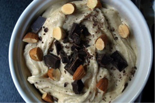 Raw vegan Almond Chunky Monkey Ice Cream
