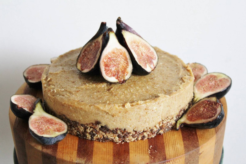Raw Vegan Lemon and Fig Cheesecake