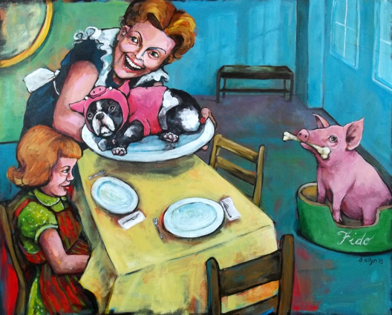 These Thought-Provoking Paintings Will Make You See Farmed Animals in a Whole New Light (PHOTOS)