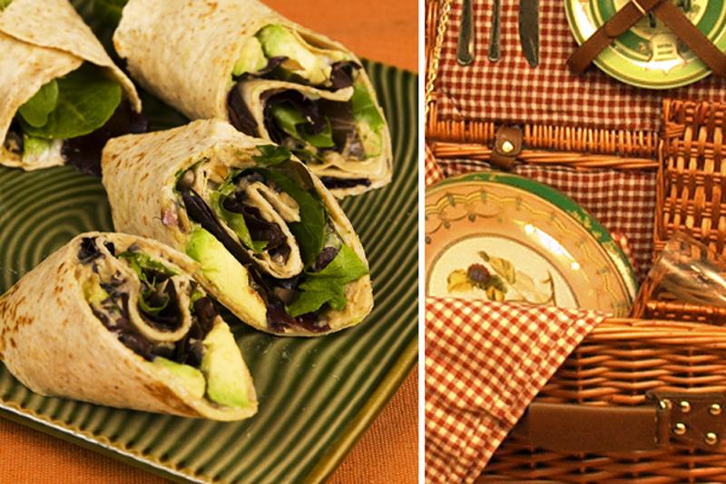 Avocado and Hummus Wrap