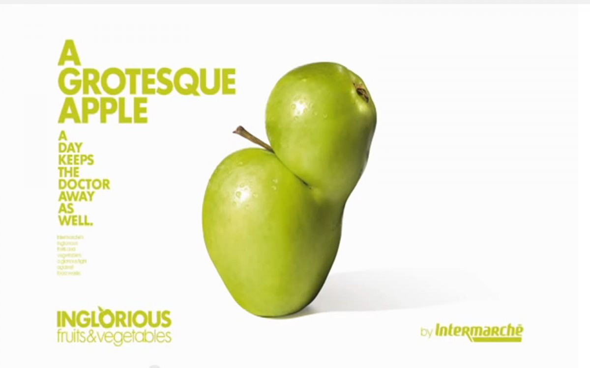 French Grocery Store Intermarché Launches Inglorious Fruits & Vegetables Campaign to Urge People to Eat More Produce
