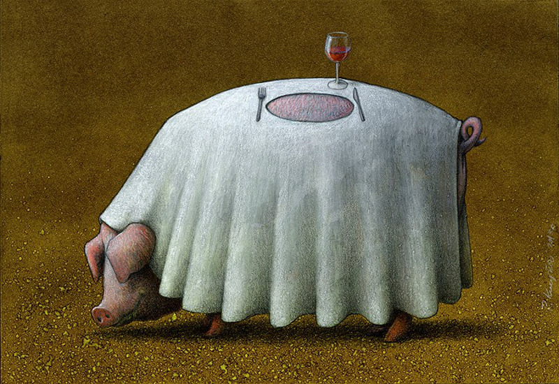 The Satirical Works of Pawel Kuczynski are a Powerful Commentary on Animals in the Modern World.