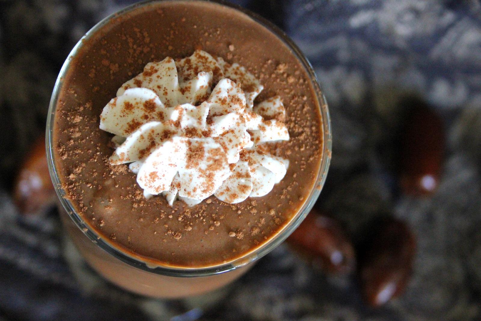 caribbean chocolate coconut rum smoothie