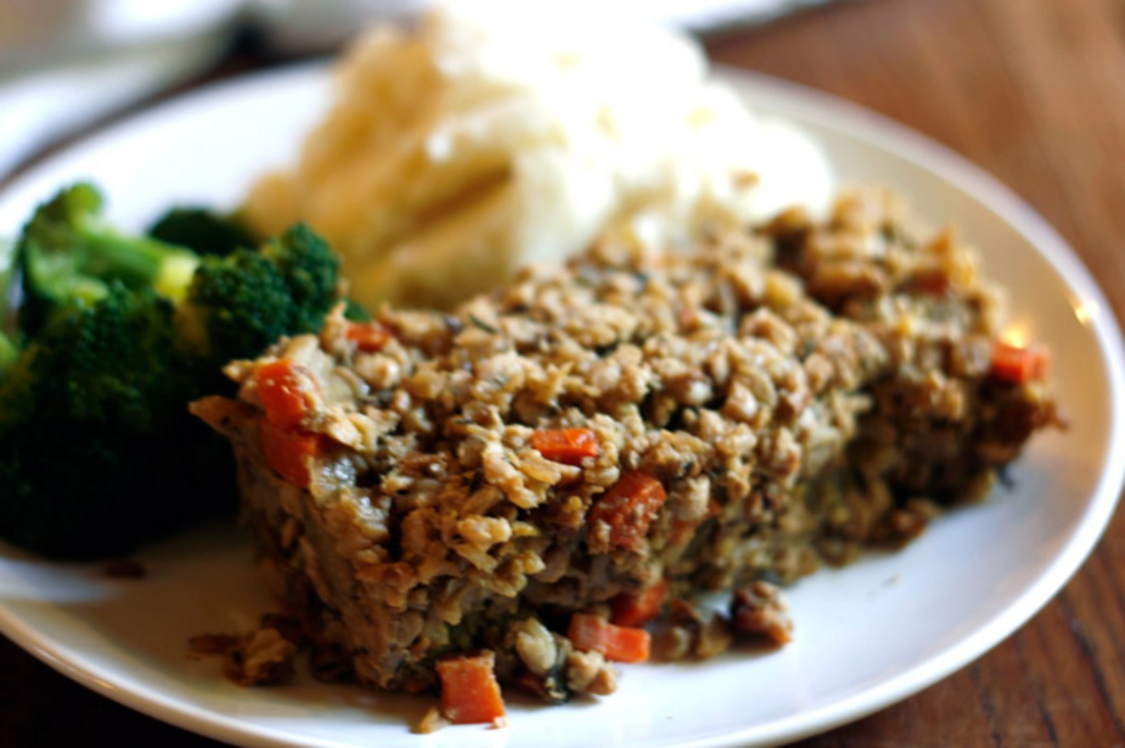 country meatloaf with gravy