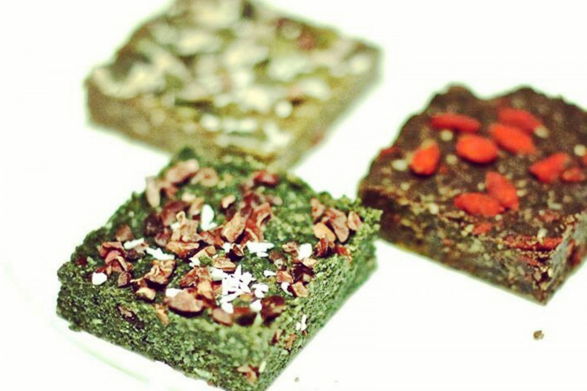 Raw Chocmint Super Protein Bars [Vegan]