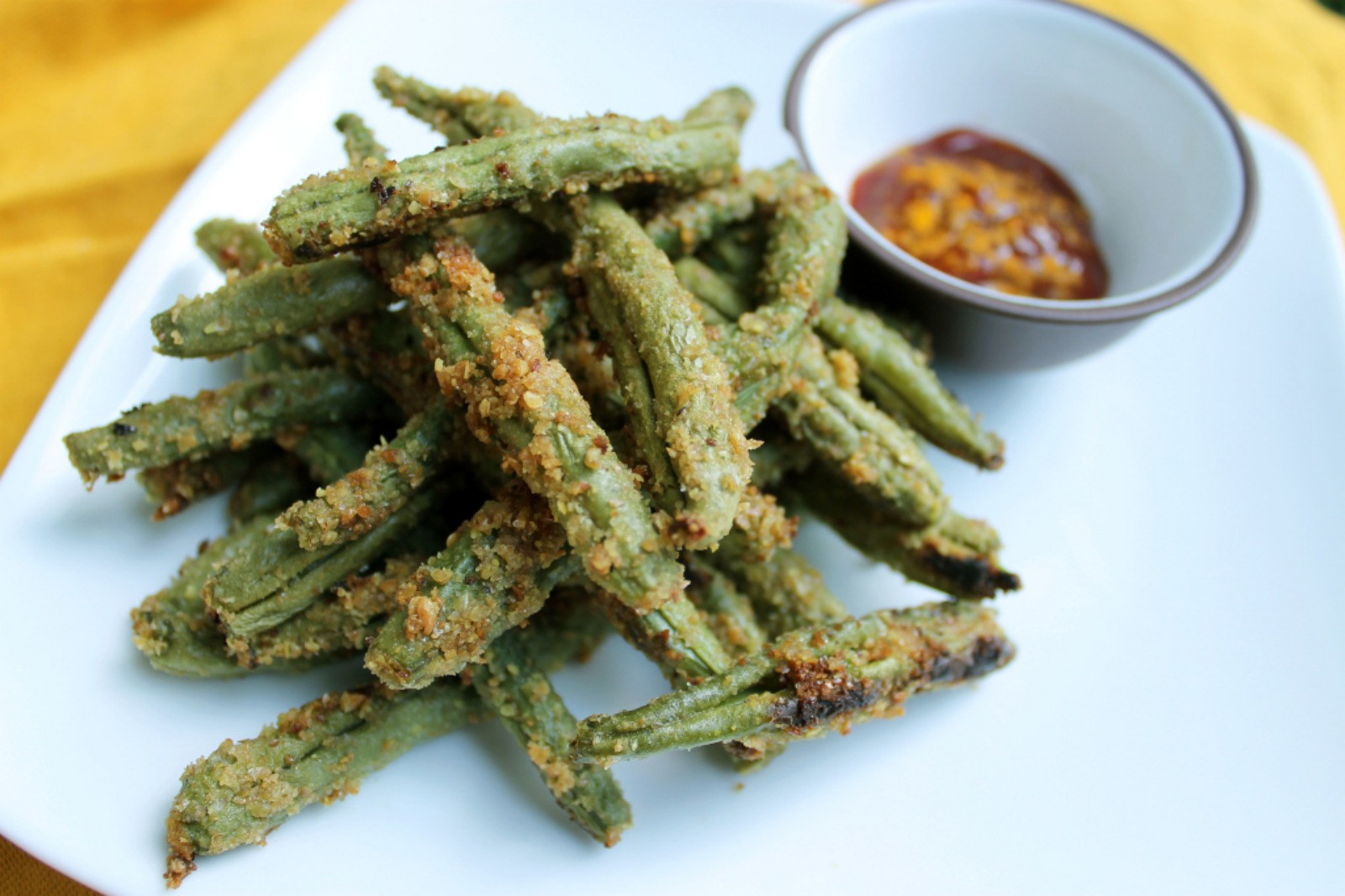 Super Flax Green Bean Fries [Vegan]