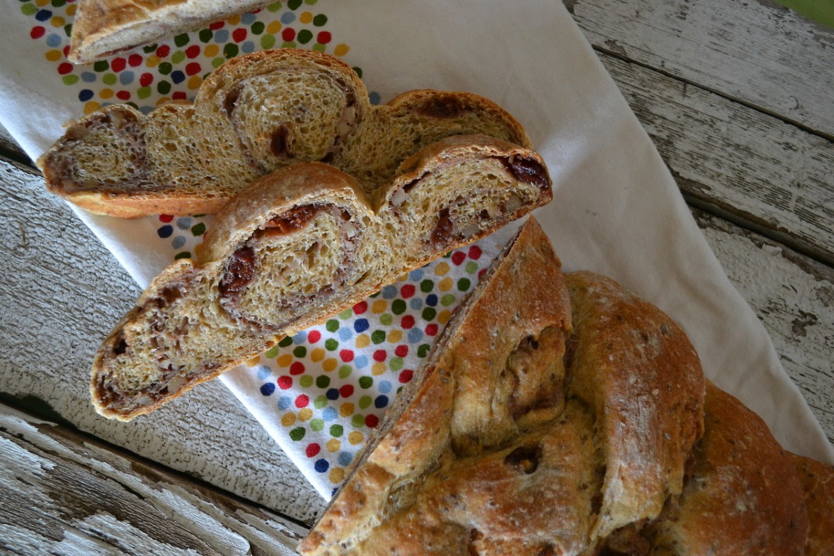 Christmas Morning Cherry-Orange Braided Bread