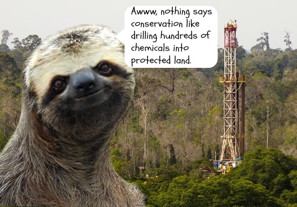 Condescending Sloth Thinks Fracking is Ridiculous