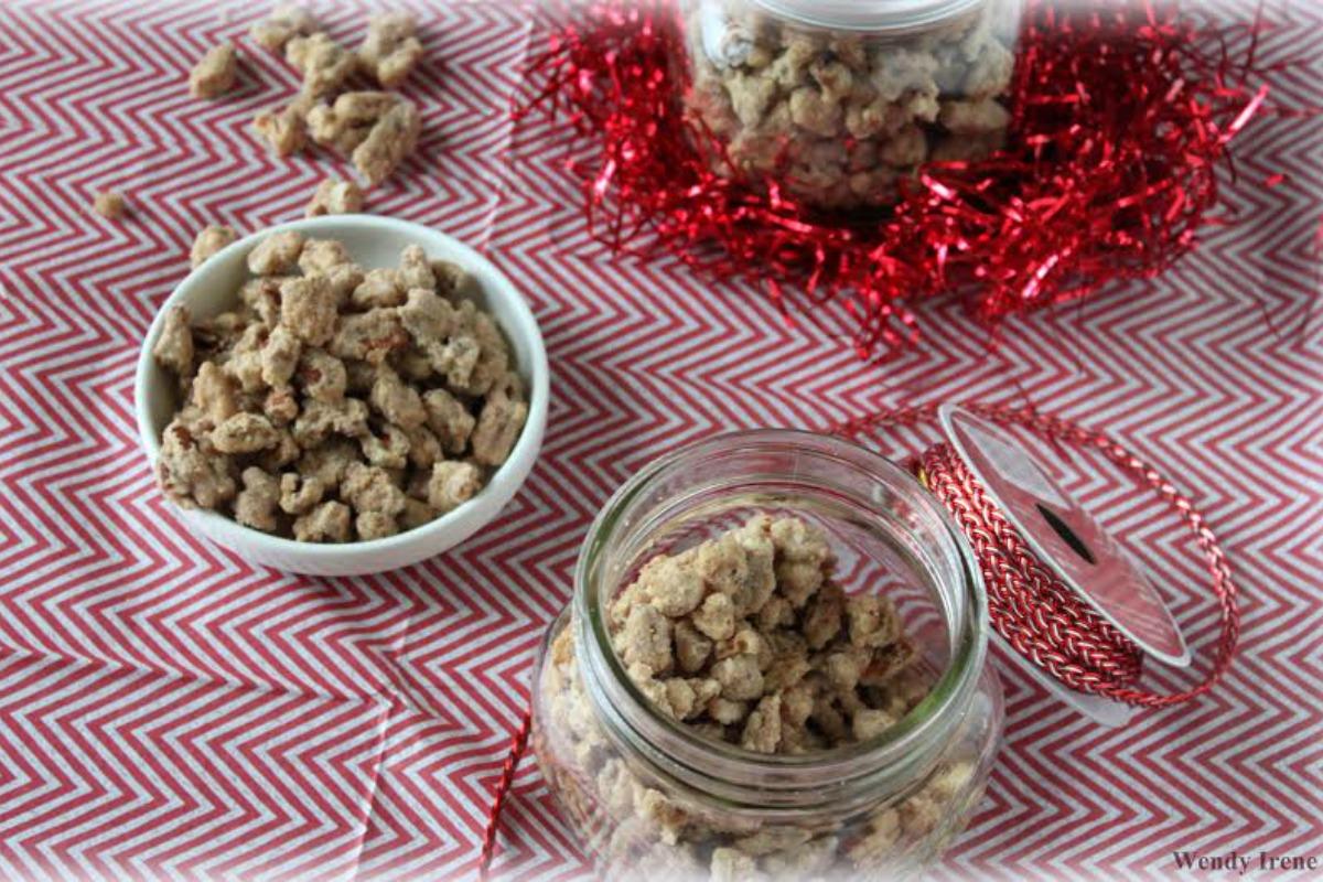 Holiday Candied Pecans Recipe [Vegan, Gluten-Free]