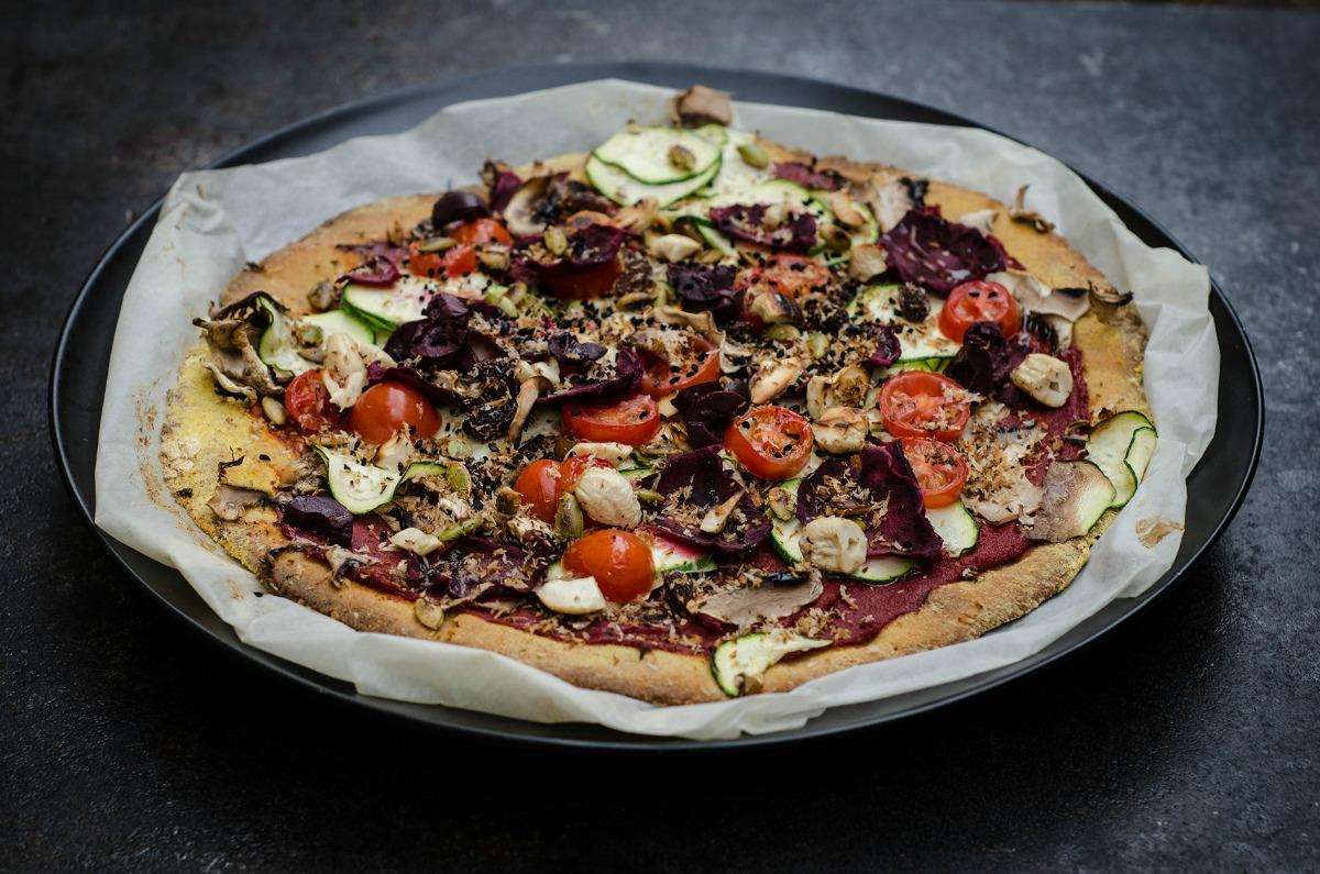 Sweet Potato, Sesame and Chickpea Pizza [Vegan, Gluten-Free]