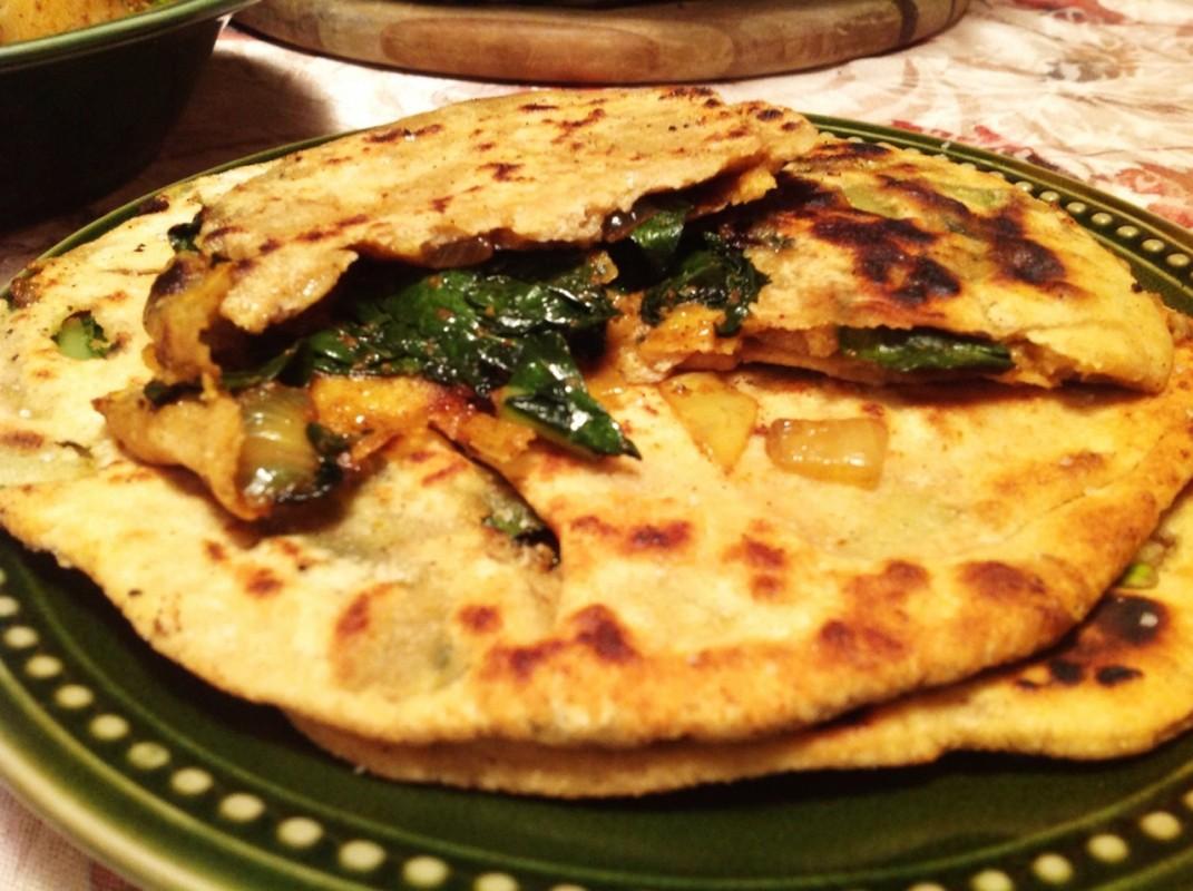 Kale Parathas (2)
