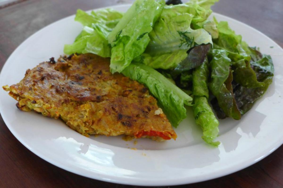 Roasted Vegetable Frittata [Vegan, Gluten-Free]