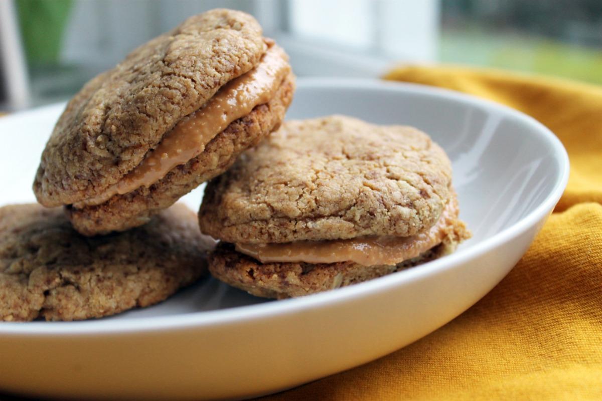 peanut buttery sandwich cookies