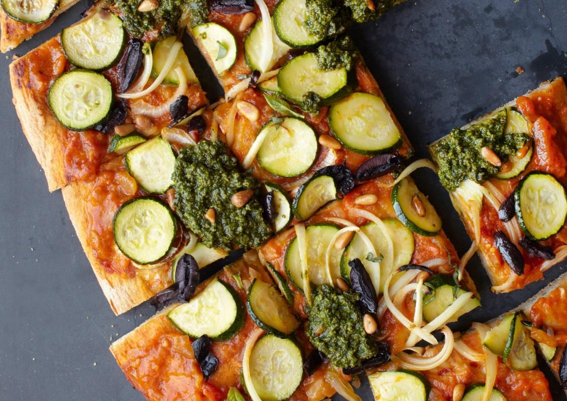Fresh Summer Pesto Pizza