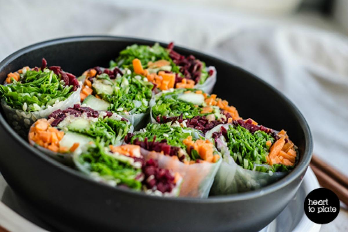 Veggie Rice Paper Rolls [Vegan, Raw, Gluten-Free]