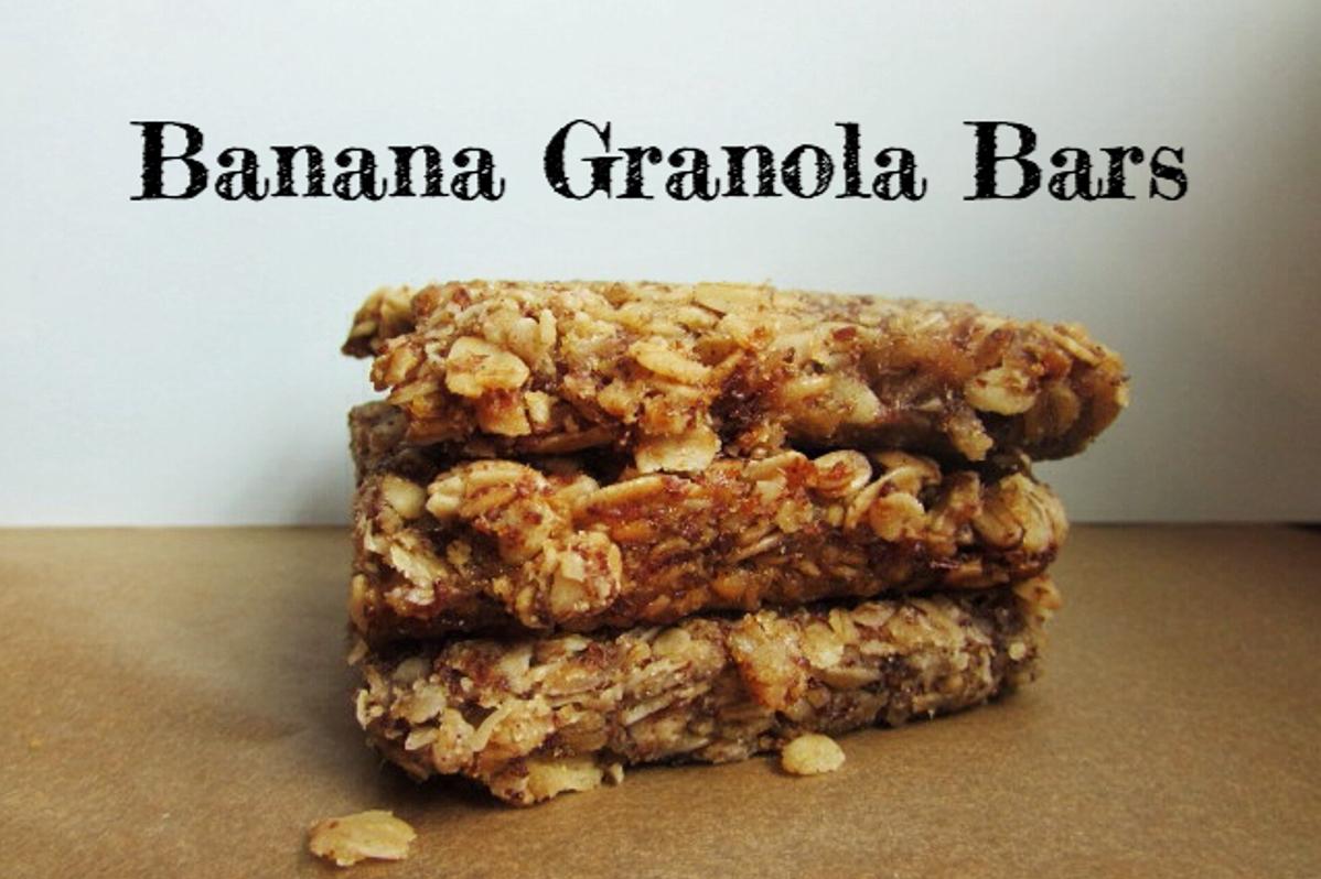 Banana Granola Bars