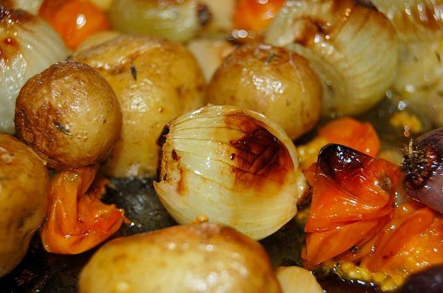 caramelized veggies
