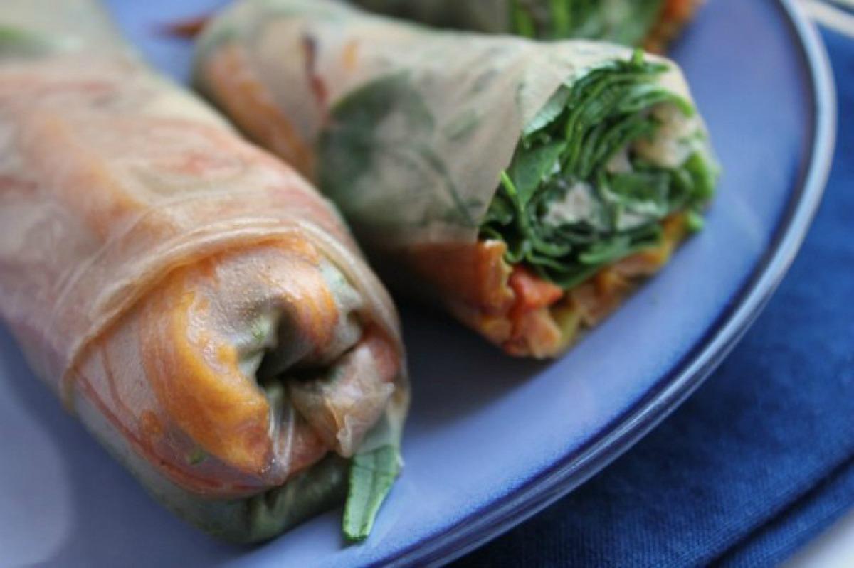 Sweet Potato Spring Rolls [Vegan, Gluten-Free]