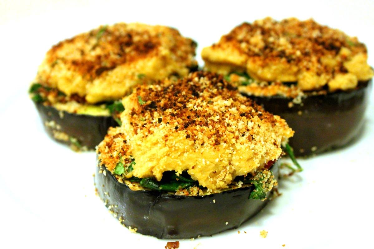 Eggplant Hummus Medallions [Vegan, Gluten-Free]