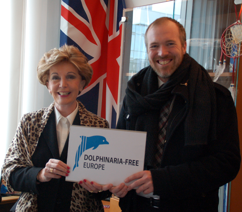 MEP Pledge for DFE - Daniel Turner with Jacqueline Foster MEP