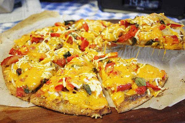 Three Cheese Vegan Pizza