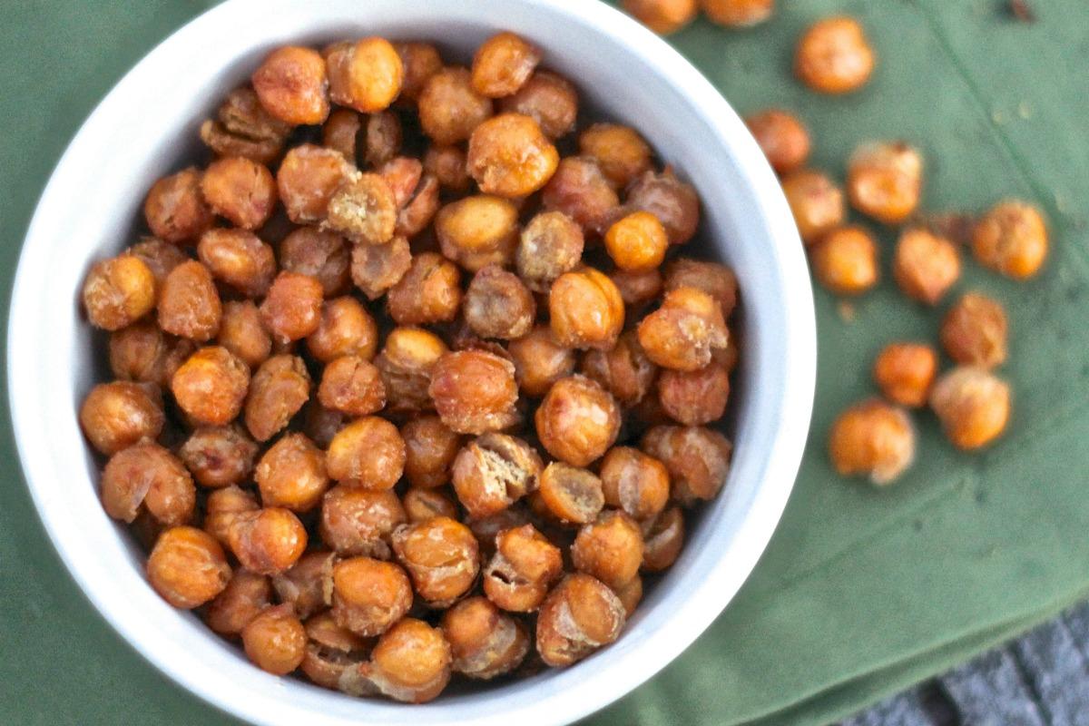 Oven Roasted Chickpeas [Vegan, Gluten-Free]