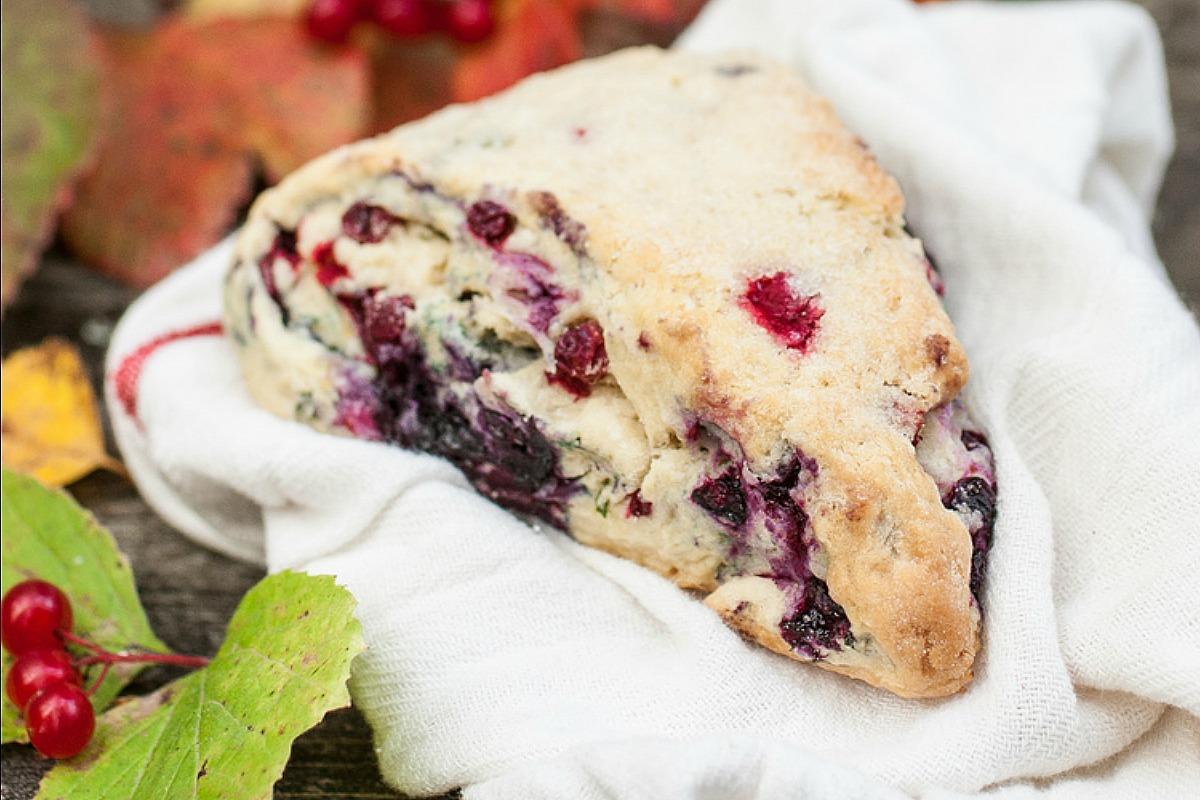 Cranberry and Mint Cream Scones [Vegan]