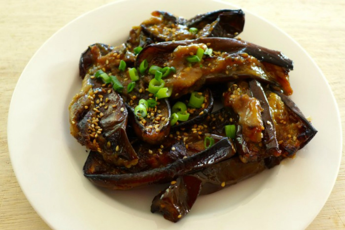 Miso Roasted Eggplant [Vegan]