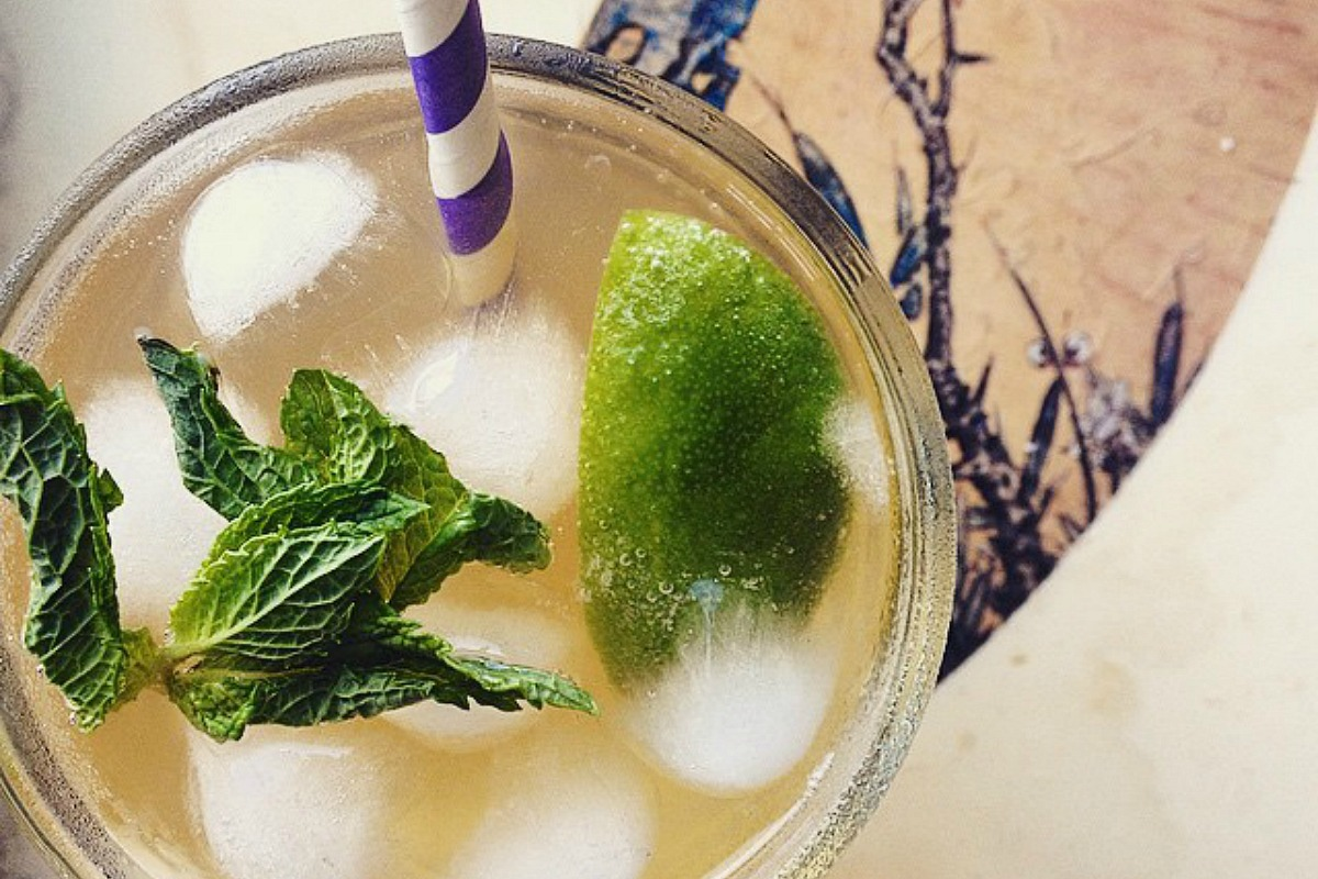 Fizzy Coconut, Lime and Mint Kombucha Elixer
