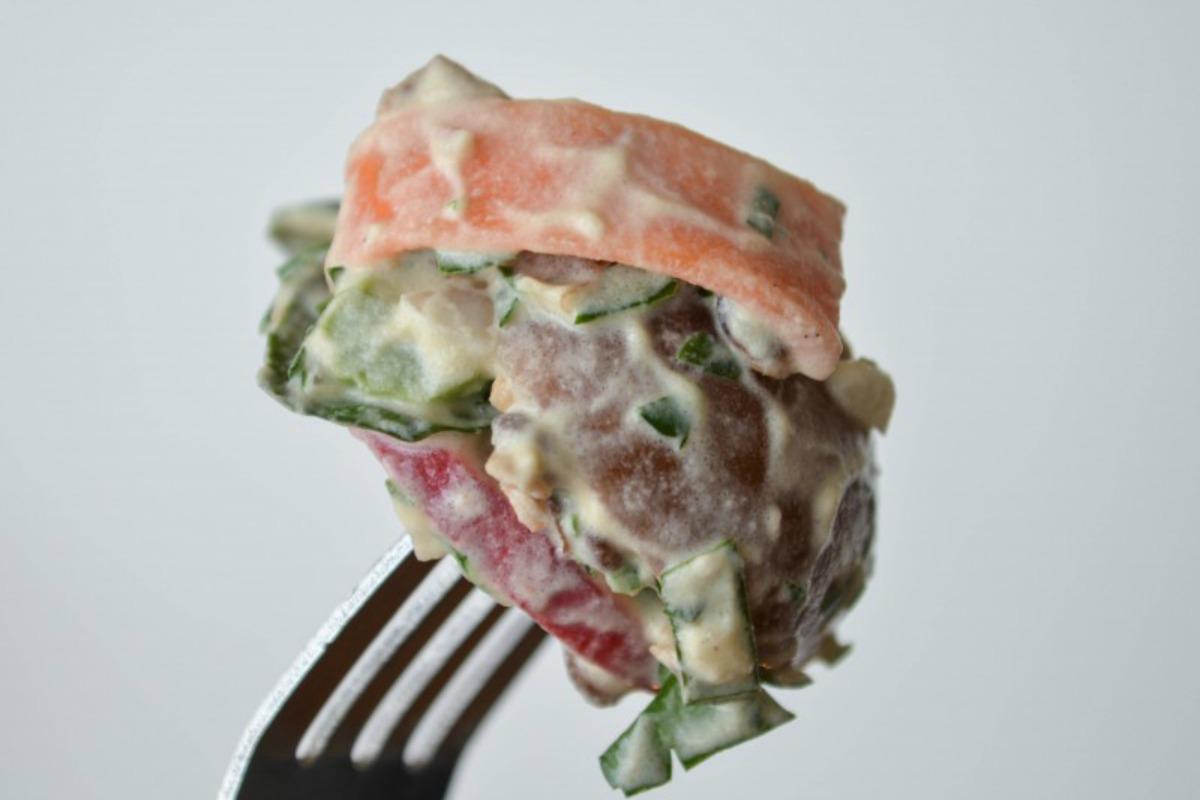 French Inspired Creamy Lentil Potato Salad [Vegan, Gluten-Free]