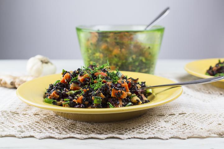Best Ever Forbidden Rice Salad [Vegan, Gluten-Free]