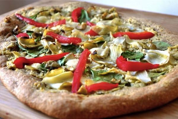 Artichoke-and-Olive-Pizza