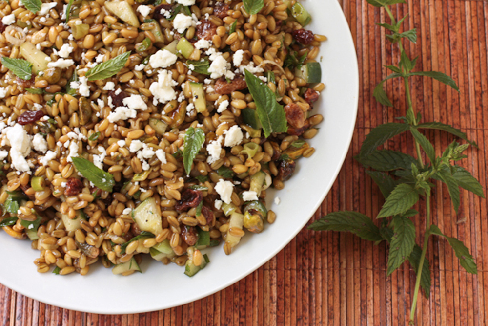 Freekeh-Salad-with-Cucumber-Pistachios-and-Mint