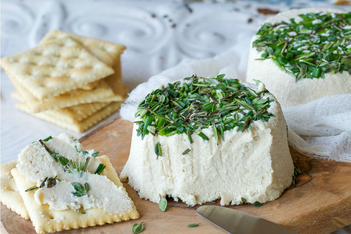 Roasted Garlic and Fresh Herb Cream Cheez (a.k.a. Vegan Boursin) [Gluten-Free]